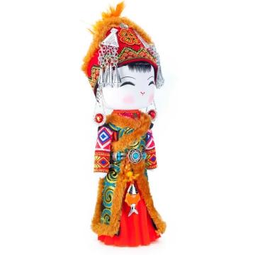 云南民族特色工艺品民族木娃娃龙撒瓦