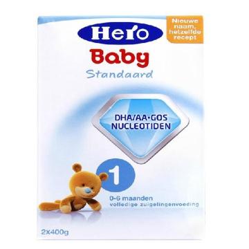 荷兰Hero Baby美素奶粉1段(0-6个月宝宝)800g(2盒装)