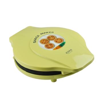 eupa灿坤tsk-2182ck 笑脸蛋糕机 松饼机煎饼机,喝咖啡的杯边点心