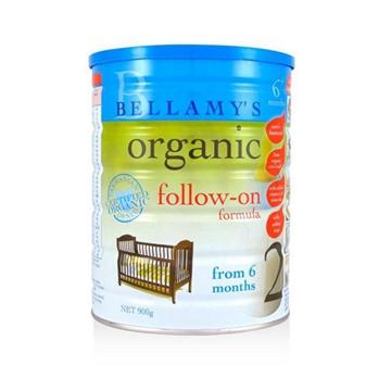 【保税区发货】澳洲Bellamys贝拉米有机婴幼儿奶粉2段900g 2罐包邮