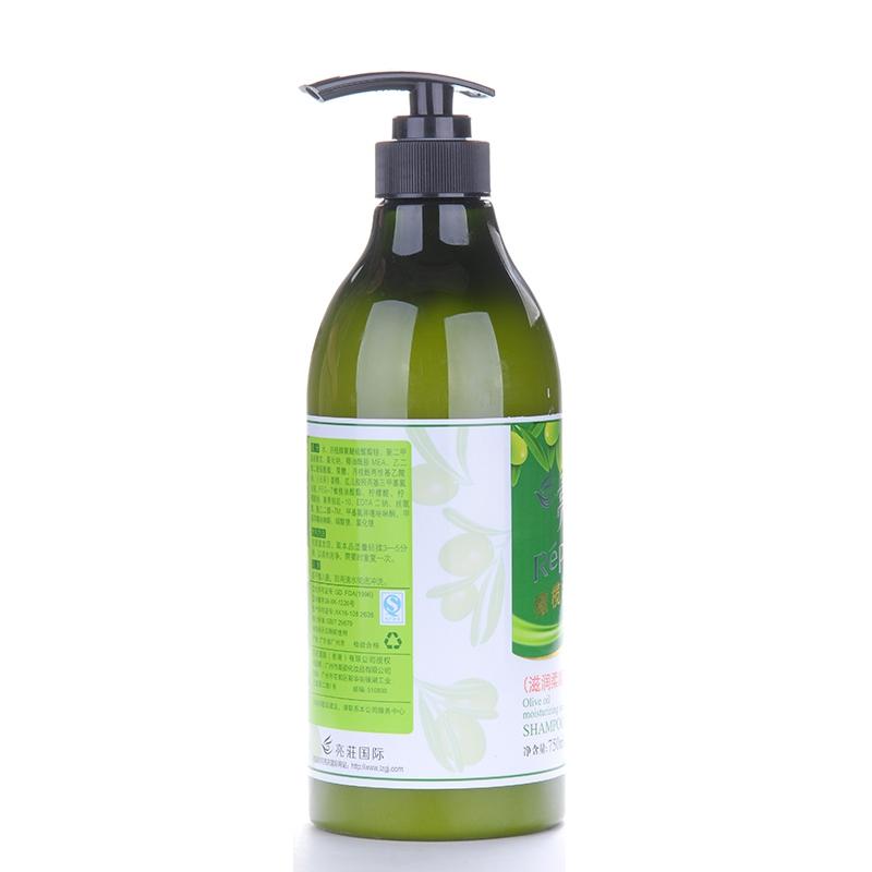 亮庄(750ml) 橄榄柔顺 洗发水 营养修复 黑亮光泽