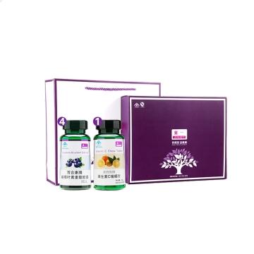 紫一  越橘叶黄素4瓶+维C咀嚼片 维生素C