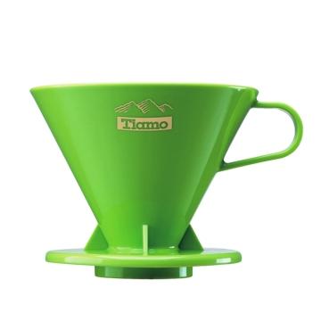 tiamo咖啡器具 高档pc冲杯滤杯 滤器 手冲咖啡过滤器V02-绿色