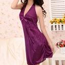 紫色美纱露背系脖性感内衣家居睡衣 系脖露背性感内衣 情趣内衣
