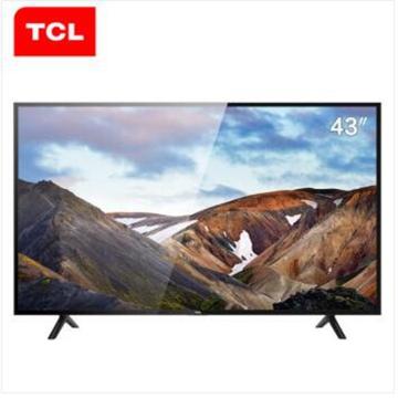 TCL L43P1A-F 43英寸 影视资源同步 智能LED网络平板电视机 黑