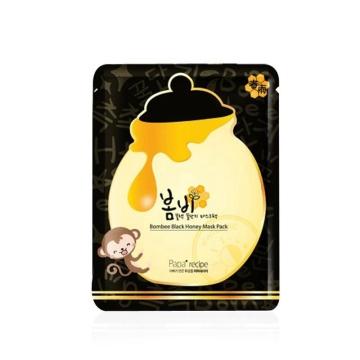 韩国papa recipe春雨卢卡黑面膜 蜂蜜黑炭面膜补水提亮肤色 10片/盒
