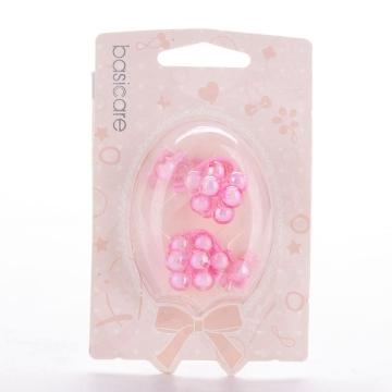 basicare 带小珠球皮筋(粉红色)(3565) 2个装 配饰系列