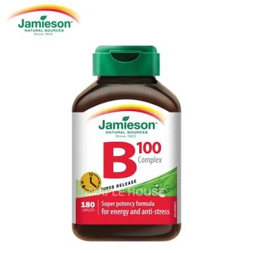 【加拿大直邮】 Jamieson健美生天然复合维生素B100 180粒