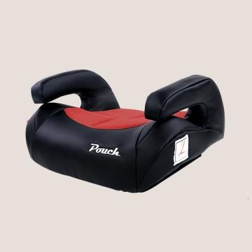 Pouch便携儿童安全座椅增高垫汽车用宝宝坐垫3-4-12周岁车载通用 型号KS20 红色色