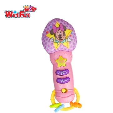 英纷 米妮粉色宝宝麦克风 3m+ 儿童玩具话筒 早教唱歌乐器播放音乐