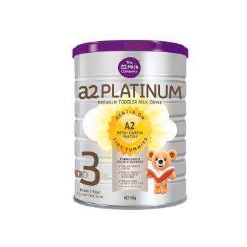【保税区直发】a2高端酪蛋白婴儿奶粉3段platinum白金 900g*2 包邮