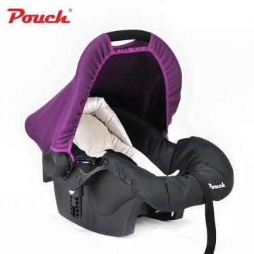 Pouch婴儿提篮新生儿汽车安全座椅 婴幼儿车载睡篮宝宝摇篮 型号Q07 紫色