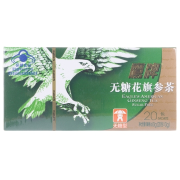 【健保通】鹰牌无糖花旗参茶 60g(3g*20包)