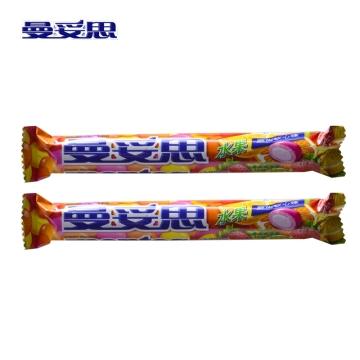 曼妥思水果劲嚼充气糖脆皮软心糖果37g