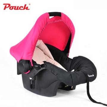 Pouch婴儿提篮新生儿汽车安全座椅 婴幼儿车载睡篮宝宝摇篮  型号Q07 粉色