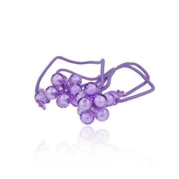 basicare 带小珠球皮筋(紫色)(3564) 2个装 配饰系列