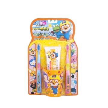 【韩国进口 国内仓发货】Pororo啵乐乐 儿童刷牙企划套装 2P(2个牙刷+1个杯子+1个牙膏)