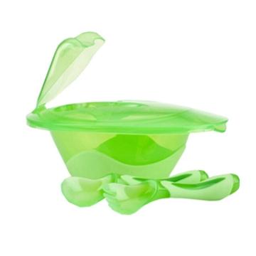 美国NUBY努比 便携吸盘碗叉勺组合 6个月+   颜色随机发 *2组