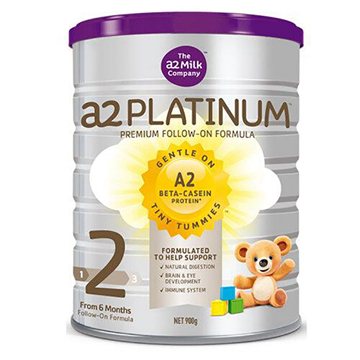 [澳洲直邮]澳洲A2 Platinum白金婴儿奶粉 2段(6-12个月)900g/罐*2