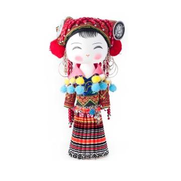 云南民族特色工艺品民族木娃娃百子映福