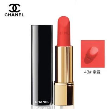 法国Chanel/香奈儿炫亮魅力丝绒唇膏口红持久#43