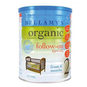 澳洲Bellamys贝拉米2段有机婴幼儿牛奶粉900g*2