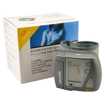【健保通】迈克大夫全自动腕式电子(自动型数字显示)血压计 BP3BU1-4U