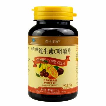 【健保通】森林印象 维妥立牌 维生素C咀嚼片 1.0g*90片