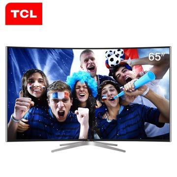 TCL L65C1-CUD 65英寸 4K曲面64位十四核安卓智能电视机(黑色)