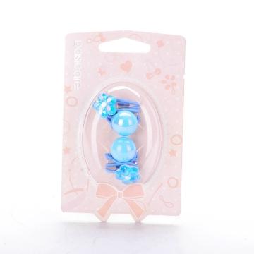 basicare 带珠和花的皮筋(蓝色)(3574) 2个装 配饰系列