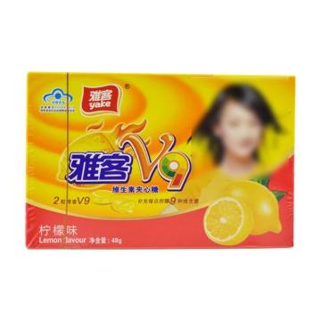 雅客V9维生素夹心糖 柠檬味 48g