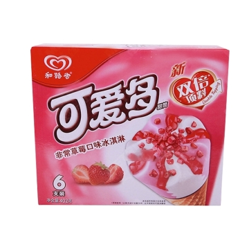 【一心到家】和路雪 可爱多甜筒 非常草莓口味冰淇淋 6支装402g/盒