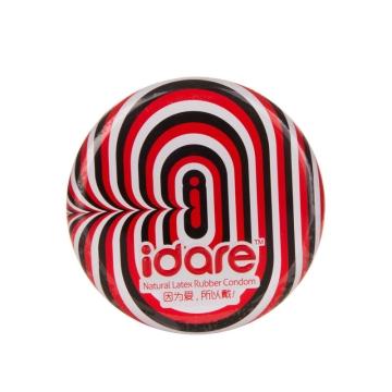 【健保通】idare 天然胶乳橡胶避孕套(甜甜圈系列超薄) 52±2mm*3只