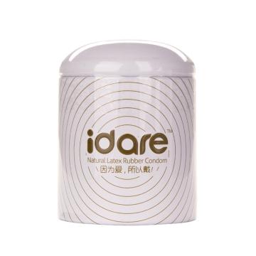【健保通】idare 天然胶乳橡胶避孕套(铂金系列超薄) 52±2mm*10只