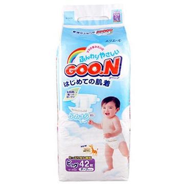【保税区发货】日本进口 GOON 大王维E系列纸尿裤 加大号XL42 男女通用 2包包邮