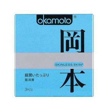 冈本蜜汁润滑天然胶乳橡胶避孕套 53mm±2mm*3只