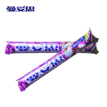 曼妥思葡萄味 劲嚼充气糖脆皮软心糖果37g