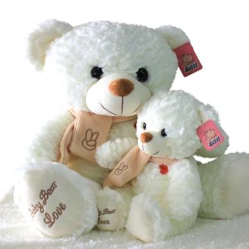 可爱卡通动漫毛绒玩具公仔玩偶布偶牧围巾熊