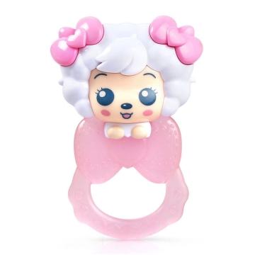 澳贝 美羊羊牙胶摇铃 3个月以上 宝宝牙胶 宝宝磨牙 安全无毒 促进牙龈发育
