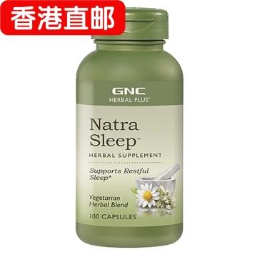 【香港直邮】GNC/美国健安喜 草本植物睡眠片 100粒*2瓶 提高睡眠质量