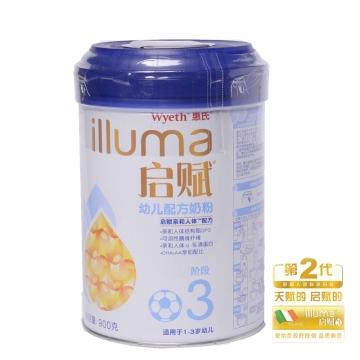 惠氏 启赋3段幼儿配方奶粉 3段 900g 适合1-3岁 罐装
