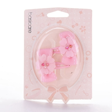 basicare 带花和蝴蝶结的水滴夹(3550) 2个装 配饰系列