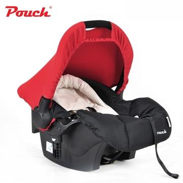 Pouch婴儿提篮新生儿汽车安全座椅 婴幼儿车载睡篮宝宝摇篮  型号Q07 红色