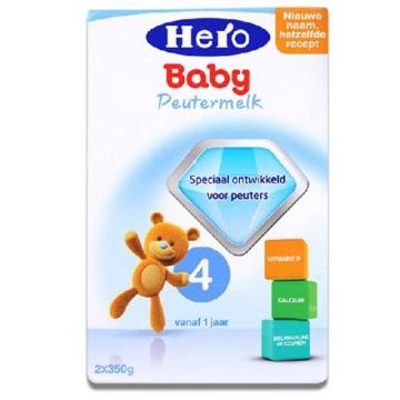荷兰Hero Baby美素奶粉4段(12-24个月宝宝)700g(2盒装)
