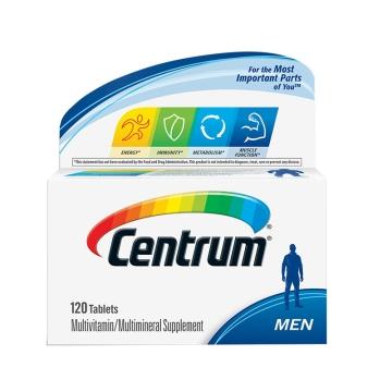 美国 善存 Centrum 复合维生素营养片成人男士款 120粒*1瓶