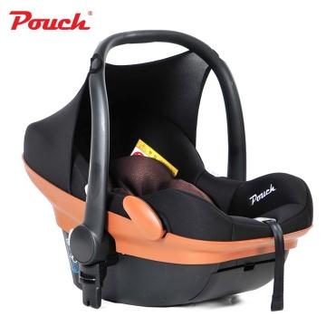 Pouch婴儿提篮新生儿汽车安全座椅 婴幼儿车载睡篮  型号Q17  雅尼咖啡色