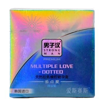 STRONG MAN 男子汉多点爱浮点装安全套3只 韩国进口成人避孕套