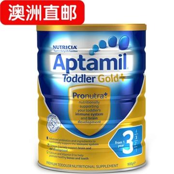 【澳洲直邮】Aptamil/爱他美金装婴幼儿配方奶粉3段 1-3岁900g*3 包邮