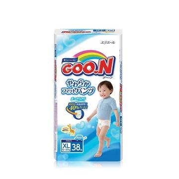 【保税区发货】日本进口 GOON 大王维E拉拉裤男宝 XL38 2包包邮