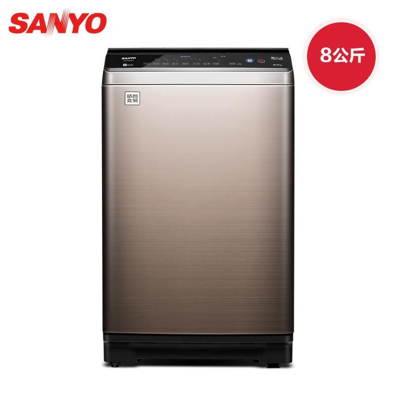 三洋db80377bye8公斤变频新品全自动洗衣机